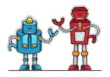 Modelo do brinquedo do vetor do robô ilustração royalty free