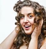 Modelo do cabelo Imagem de Stock