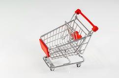 Modelo do carrinho de compras Imagens de Stock
