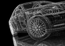 Modelo do carro 3D Imagens de Stock Royalty Free