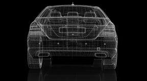 Modelo do carro 3D Fotos de Stock Royalty Free