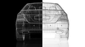 Modelo do carro 3D Fotos de Stock