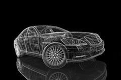 Modelo do carro 3D Foto de Stock Royalty Free