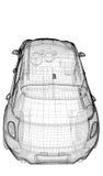 Modelo do carro 3D Fotografia de Stock Royalty Free