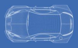 Modelo do carro de esportes ilustração stock