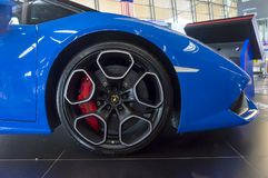 Modelo 2017 do carro de Lamborghini Huracan LP610-4 Foto de Stock