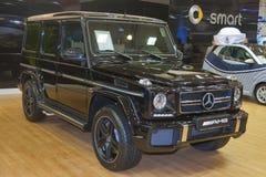 Modelo do carro de Mercedes-Benz na exposição imagens de stock royalty free