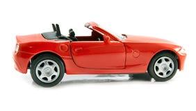 Modelo do carro vermelho Fotografia de Stock