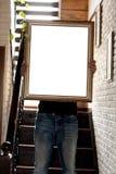 Modelo do cartaz com lugar para seu projeto Fotografia de Stock