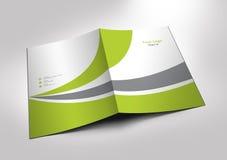 Modelo do dobrador da apresentação Imagens de Stock
