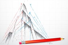 Modelo do edifício ilustração do vetor