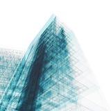 Modelo do edifício no branco Imagens de Stock