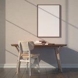 Modelo do espaço de trabalho Luz através do indicador Fotografia de Stock Royalty Free