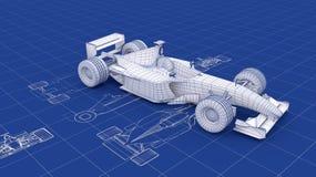Modelo do Fórmula 1 ilustração do vetor