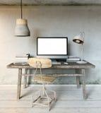 Modelo do local de trabalho no sótão industrial Imagem de Stock Royalty Free