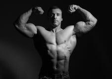 Modelo do macho do músculo Fotografia de Stock Royalty Free