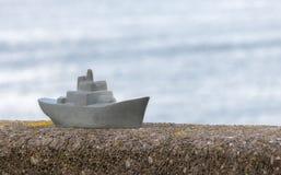 Modelo do navio de guerra Fotografia de Stock Royalty Free