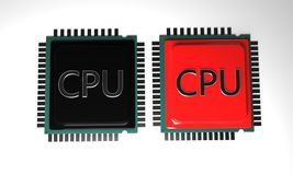 MODELO do processador central do fundo, 3d render-3 Fotos de Stock