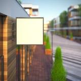 Modelo do quadro indicador vazio do quadrado da disposição do molde Imagem de Stock Royalty Free
