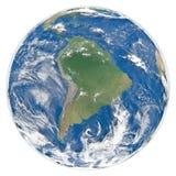 Modelo do revestimento Ámérica do Sul da terra Imagens de Stock