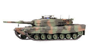 Modelo do tanque de leopardo Fotografia de Stock Royalty Free