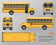 Modelo do vetor do ônibus escolar ilustração stock