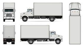 Modelo do vetor do caminhão da caixa ilustração stock