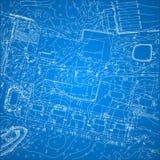 Modelo do vetor com topografia da cidade Fotografia de Stock Royalty Free