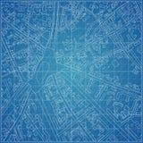 Modelo do vetor com topografia da cidade Imagem de Stock