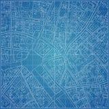 Modelo do vetor com topografia da cidade Foto de Stock Royalty Free