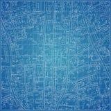 Modelo do vetor com topografia da cidade Fotografia de Stock