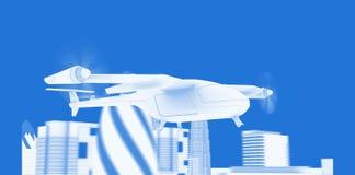 Modelo do zangão de Taxy do voo ilustração royalty free