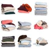 Modelo doblado del suéter en el fondo blanco foto de archivo libre de regalías