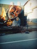 Modelo dos grafittis imagens de stock