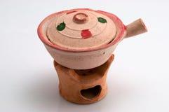 Modelo dos utensílios de mesa da argila Imagens de Stock Royalty Free
