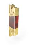 Modelo dourado abstrato do elemento 3d Imagem de Stock Royalty Free