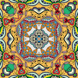 Modelo drenado mano abstracta inconsútil Fondo geométrico floral decorativo Fotos de archivo