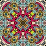 Modelo drenado mano abstracta inconsútil Fondo geométrico floral decorativo Imágenes de archivo libres de regalías