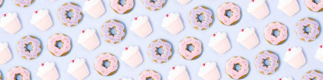 Modelo dulce de las galletas Foto de archivo