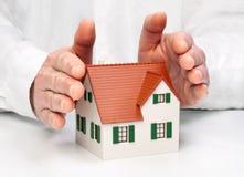 Modelo e mãos da arquitetura Imagens de Stock