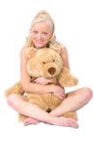 Modelo e urso Foto de Stock