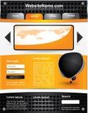 Modelo Editable del Web site del vector Imágenes de archivo libres de regalías