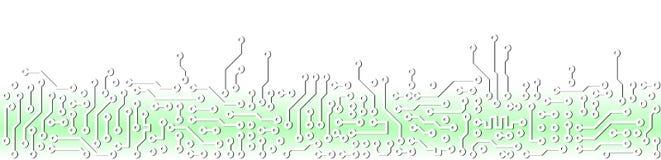 Modelo electrónico verde abstracto de la tarjeta de circuitos Imagen de archivo