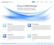 Modelo elegante del diseño del Web site