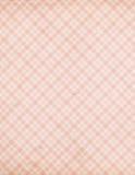 Modelo elegante lamentable del tartán de la verificación del color de rosa de la vendimia Imagenes de archivo