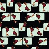 Modelo embaldosado inconsútil de pájaros Stock de ilustración