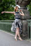 Modelo en Berlin Bridge Imagenes de archivo