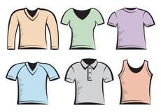 Modelo en blanco de las camisetas Fotografía de archivo libre de regalías