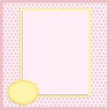 Modelo en blanco para la tarjeta de felicitaciones Fotos de archivo libres de regalías