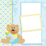 Modelo en blanco para la tarjeta de felicitaciones Imágenes de archivo libres de regalías